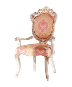 armrests chair, head chair, classic chair, romantic style chair, upholstered chair, handmade chair,