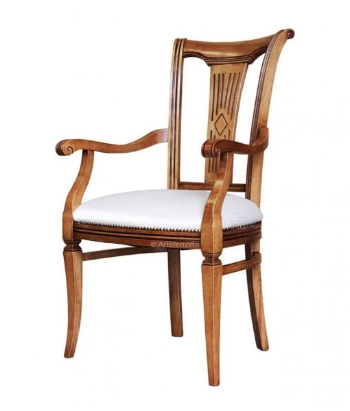 Wooden chair stylized backrest. Sku fr-43c
