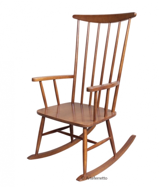 wooden rocking chair, rocking armchair, wood furniture, classic rocking chair,