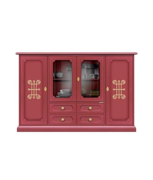 Ruby red cupboard 4 doors dining room. Sku 3100-ru