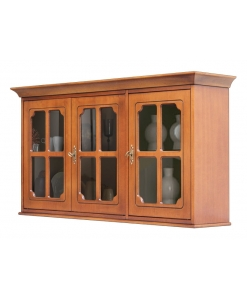 3 glass door wall unit, wooden unit, kitchen wall unit, wooden display cabinet, wall display cabinet, classic display cabinet