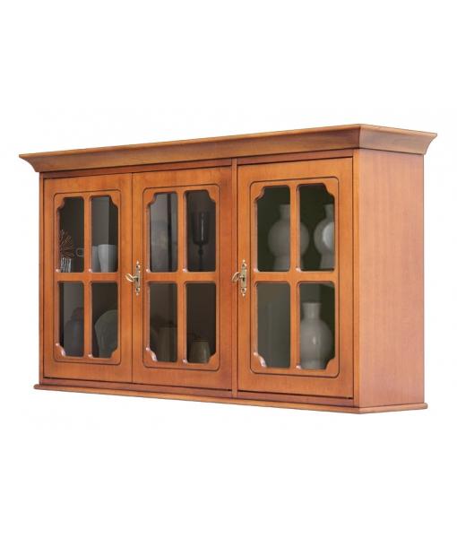 3 glass door wall unit. Sku 4053-sg