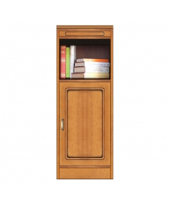 Space saving modular sideboard, narrow storage, small wooden sideboard, made in italy