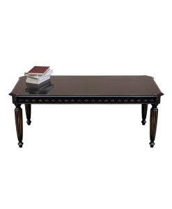 Rectangular distressed black coffee table