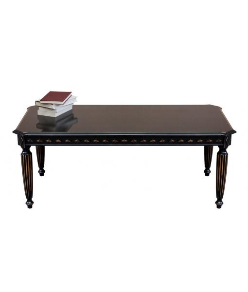 Rectangular distressed black coffee table, SKU: ER-236-N