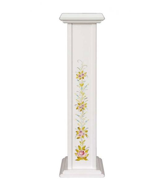 Decorated pedestal plant stand. Sku pv-01-dec