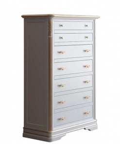 Gold decorated chest of drawers, wooden dresser, lacquered dresser, bedroom furniture