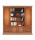 Wall unit with open central compartment, wooden wall unit, boockase, classic bookcase, books storage