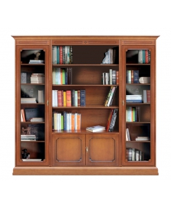 Wooden display wall bookcase