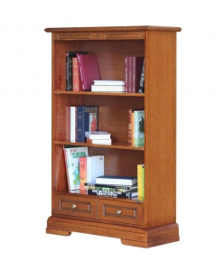 open shelving bookcase, wooden bookcase, wooden furniture, classic bookcase, living room bookcase, office bookcase,
