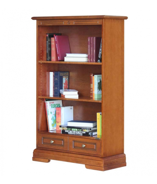 Open shelving bookcase with drawer. Sku 225