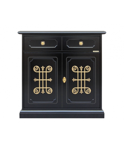 2 door black sideboard. Sku 3011-n