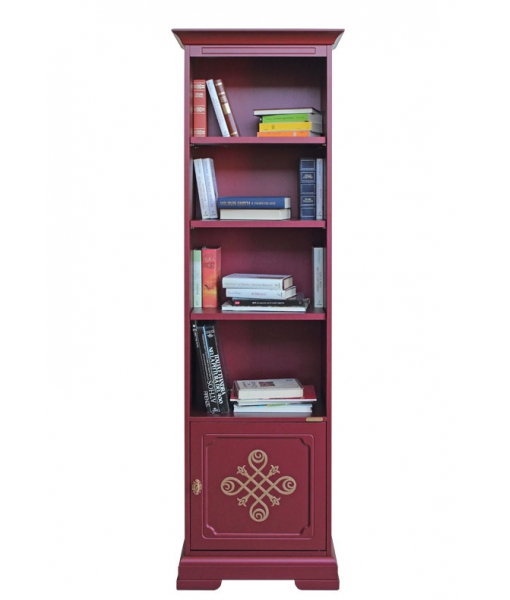 space saving bookcase, bookcase, 1 door bookcase, classic furniture, wooden bookcase, ruby bookcase