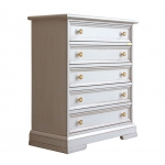 lacquered dresser, wooden dresser, wooden furniture, white dresser, classic chest of drawers, 5 drawers dresser