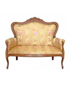 carved classic shape sofa, wooden sofa, upholstered sofa, classic sofa