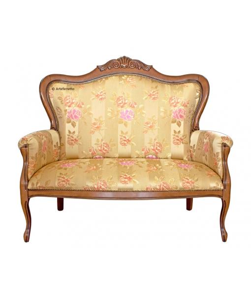 Carved classic shape sofa 2 seater. Sku gm-444