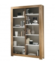 opening shelving bookcase, wooden bookcase, two tone bookcase, living room bookcase, ash wood bookcase