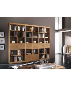 open shelving wall unit, wooden bookcase, contemporary furniture, italian style wall unit, living room furniture, wooden wall unit, solid wood,