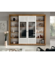 sliding doors wall unit, contemporary wall unit, two tone wall unit, wooden wall unit, living room wall unit, wooden furniture