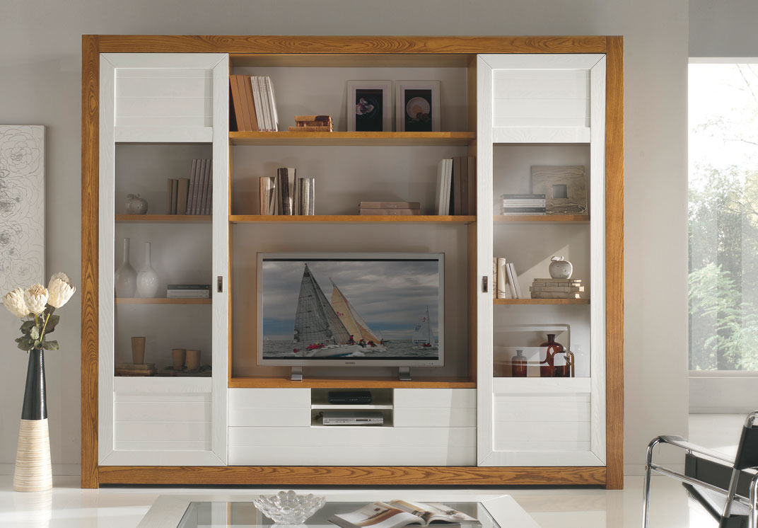 Sliding doors wall unit in wood ferrettohome for In wall sliding door