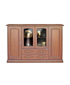 dining cupboard with glass doors, wooden cupboard, classic sideboard, display cabinet