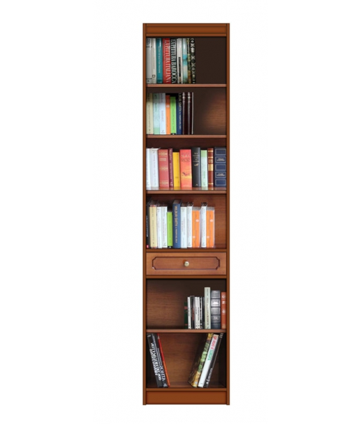 Wooden bookshelf in wood. Sku ec-5001