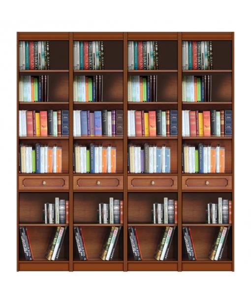 Open shelving wall unit, bookcase. Sku ec-com-04