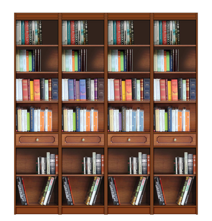 Open Shelving Wall Unit Wood Wall Bookcase Bookshelf