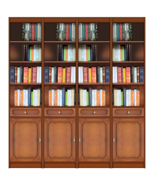 Wooden bookcase open shelving. Sku ec-com-08