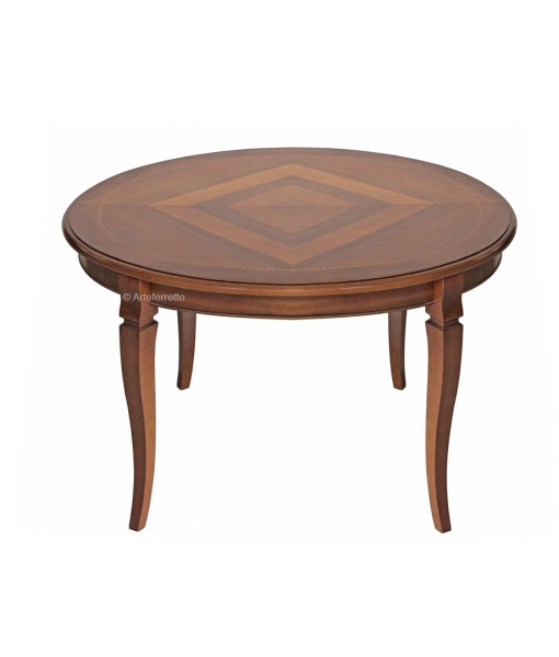 Round inlaid table, extendable 120-158 cm. Sku FV-41a