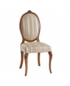 oval backrest dining chair, solid wood chair, elegant chair, classic style dining chair, classic chair, oval chair