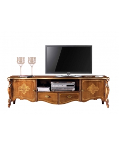 Inlaid tv unit in classic style