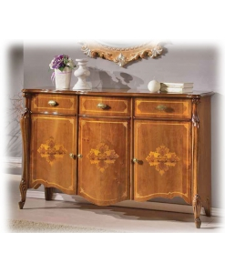 3 door sideboard with inlays, wooden sideboard, cupboard, dining sideboard, dining furniture, classic style furniture