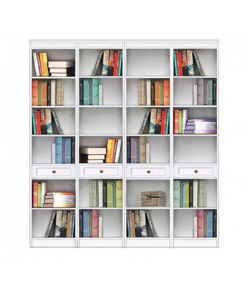 Open shelving wall unit, bookcase