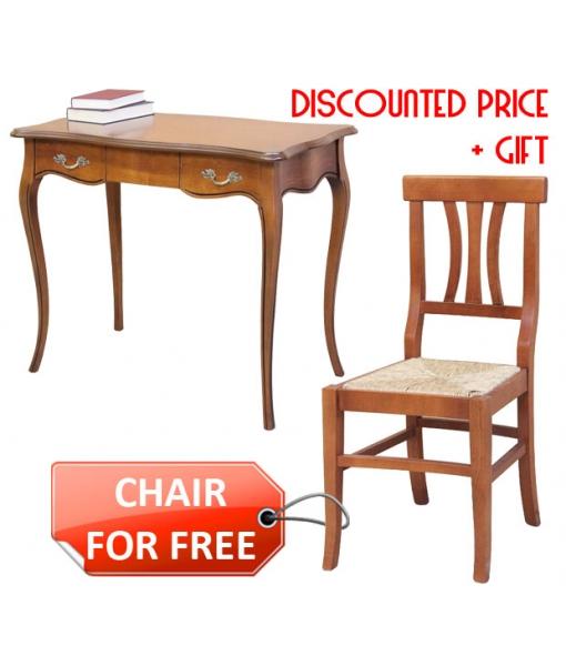 desk + chair in wood