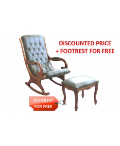 rocking armchair + footrest stool