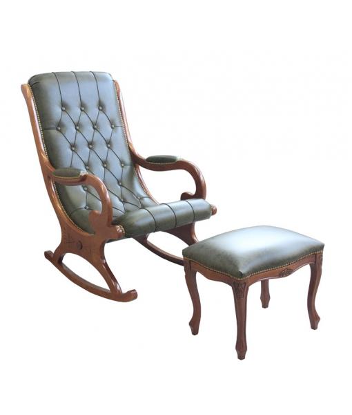 Rocking armachair and footrest stool. Sku vis-01-sga