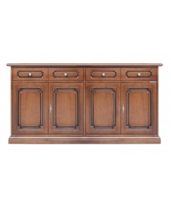 Dining room sideboard, 4 doors sideboard, cupboard, dining room furniture, wooden sideboard, large sideboard,
