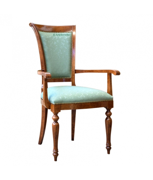 Empire style chair with armrests. Sku bs-c085