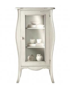 1 door display cabinet, glass door cabinet, dining room cabinet, living room cabinet, classic style cabinet, white display cabinet