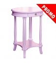 oval side table, side table, violet side table, wooden side table, laquered side table