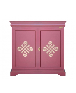 2 door cupboard, Dining cupboard, ruby furniture, colored furniture, 2 door sideboard, dining sideboard, wood cupboard