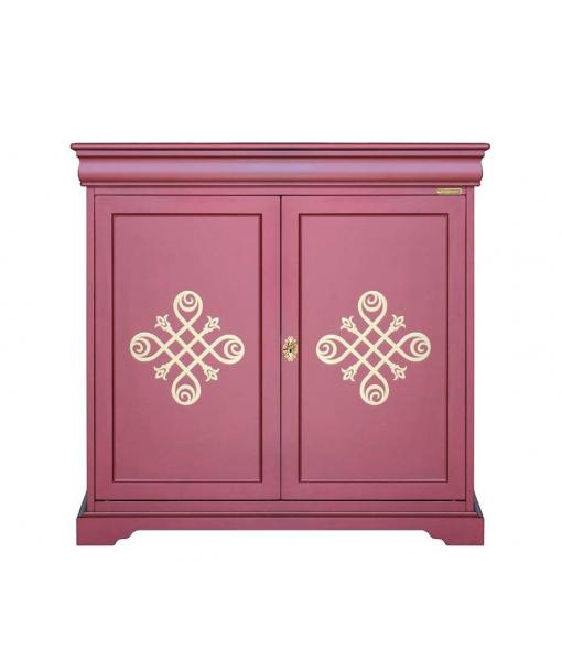 2 door cupboard in ruby colour. Sku 316-ru