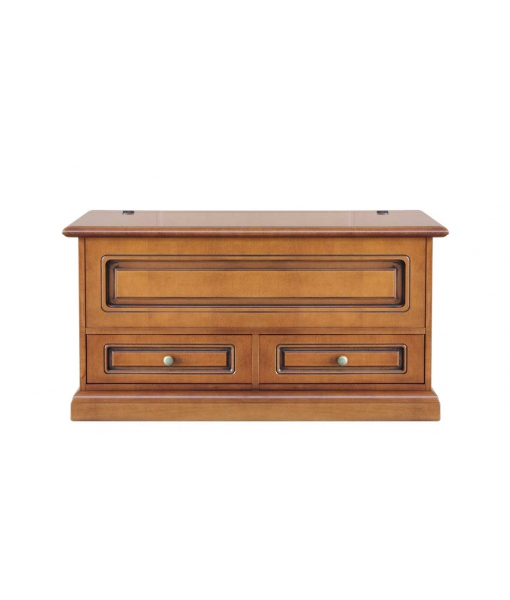 Space saving storage chest in wood with 2 drawers. Sku 335-q