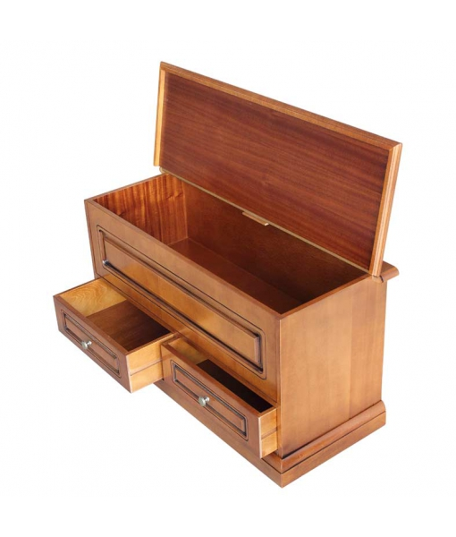 space saving storage chest, wood chest, wood storage chest, entryway storage chest, flap opening storage chest, wood cabinet, entryway furniture, storage furniture