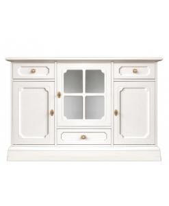 Dining room cupboard, wooden sideboard, 3 doors cupboard, white sideboard, dining room cabinet