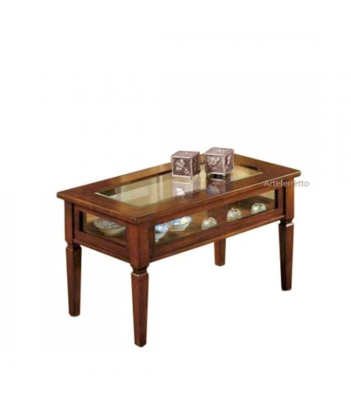 Display coffee table in wood. Sku B20-ra