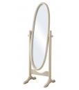 oval swivel mirror, wood mirror, oval mirror, bedroom mirror, wood furniture for bedroom, entryway mirror, guest room mirror, closet room mirror