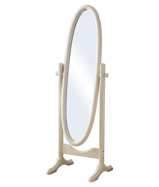 Oval swivel mirror in wood for bedroom. Sku db-162
