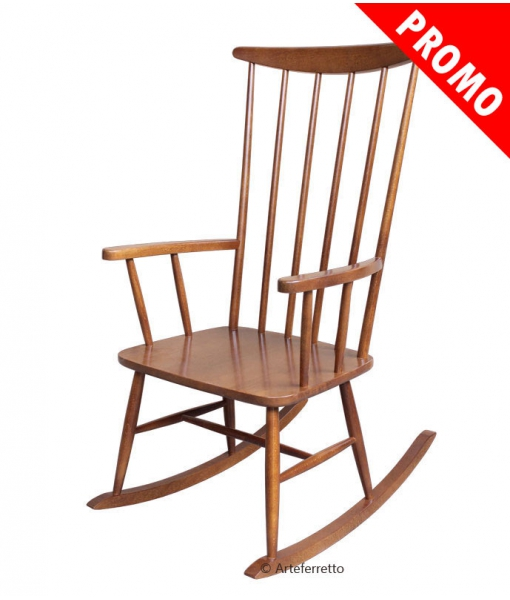 Wooden rocking chair. Sku owl-1-promo